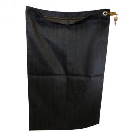 Secure transport canvas bag, equipped with zipper and padlock or single security seal